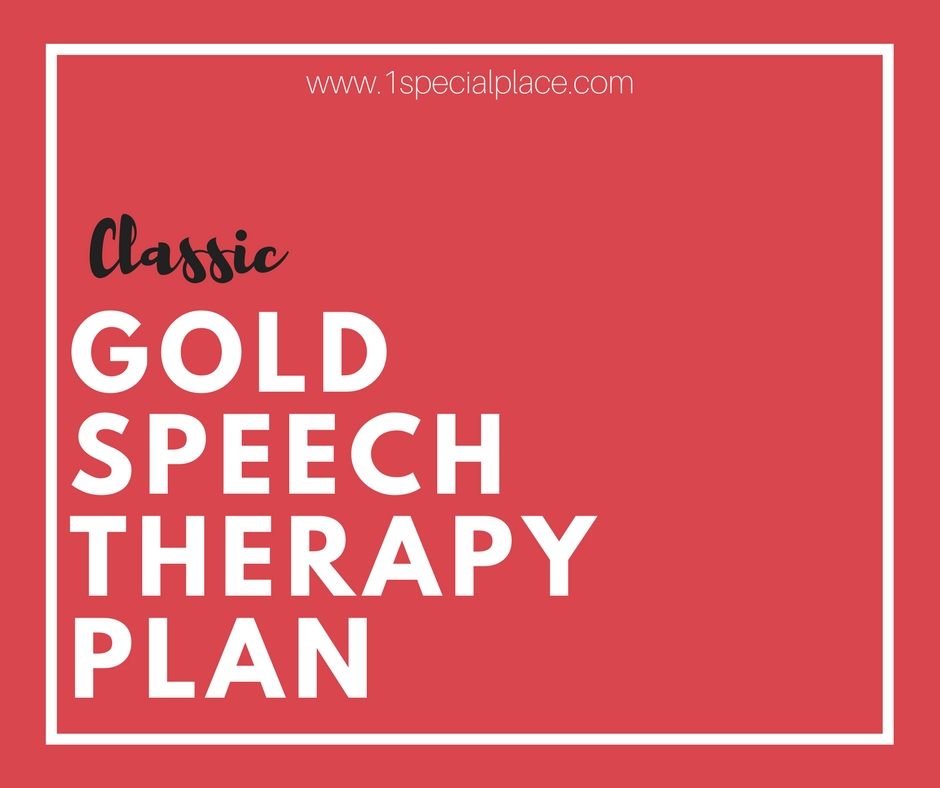 Classic Gold Speech Therapy Plan