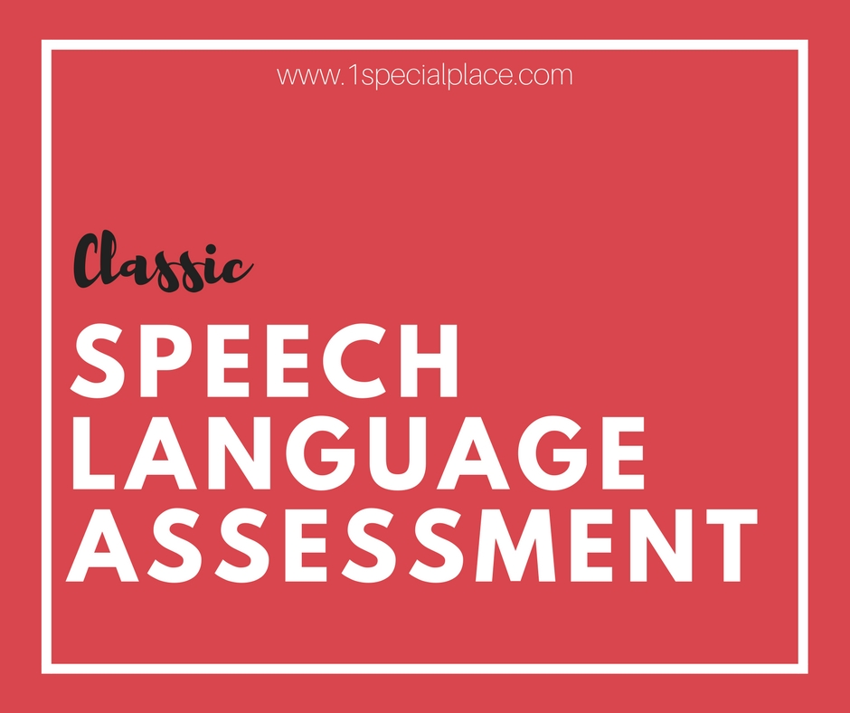 Classic Speech Language Assessment